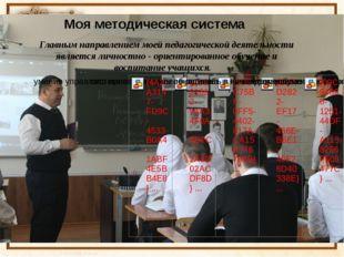 Моя методическая система Главным направлением моей педагогической деятельност
