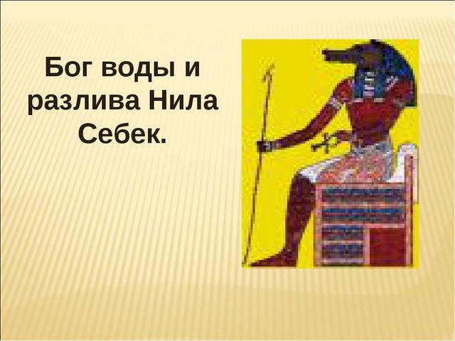 Бог воды и разлива Нила Себек.