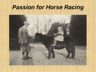 Passion for Horse Racing