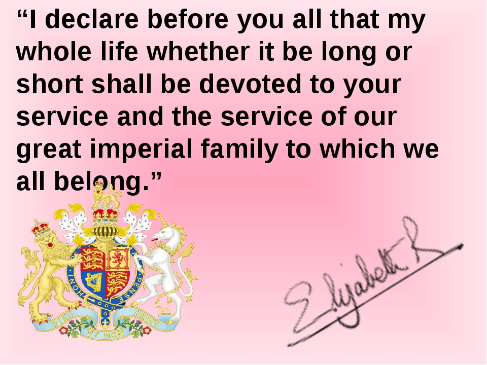 """""""I declare before you all that my whole life whether it be long or short shal..."""