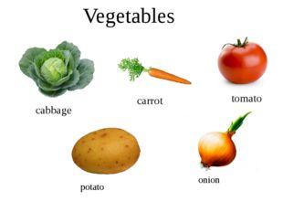Vegetables cabbage carrot tomato potato onion