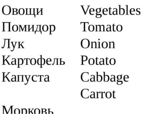 Овощи Помидор Лук Картофель Капуста Морковь Vegetables Tomato Onion Potato Ca