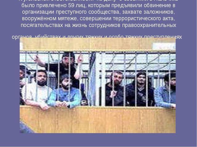 К уголовной ответственности по делу о событиях в Нальчике было привлечено 59...