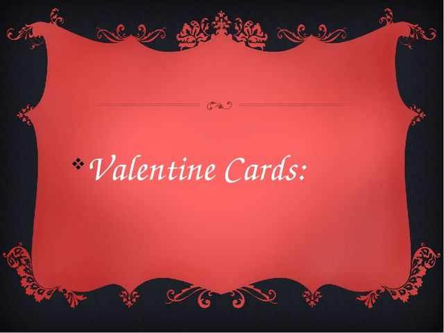 Valentine Cards: