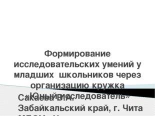 Сакаева В.А. Забайкальский край, г. Чита МБОУ «Начальная общеобразовательная