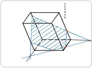 TO ∩ BC = M TP ∩ AB = N NM ∩ AD = L NM ∩ CD = F PL, FO PTOFL – искомое сечение