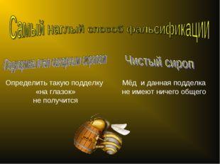 Определить такую подделку «на глазок» не получится Мёд и данная подделка не и