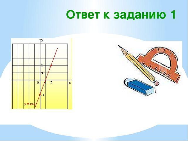 Ответ к заданию 1