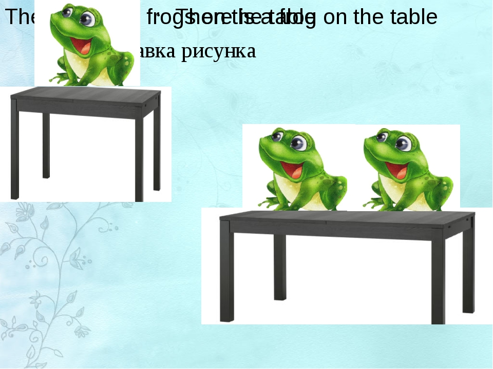There are two frogs on the table There is a frog on the table