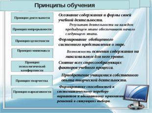 Принцип деятельности Принцип целостности Принцип психологической комфортности