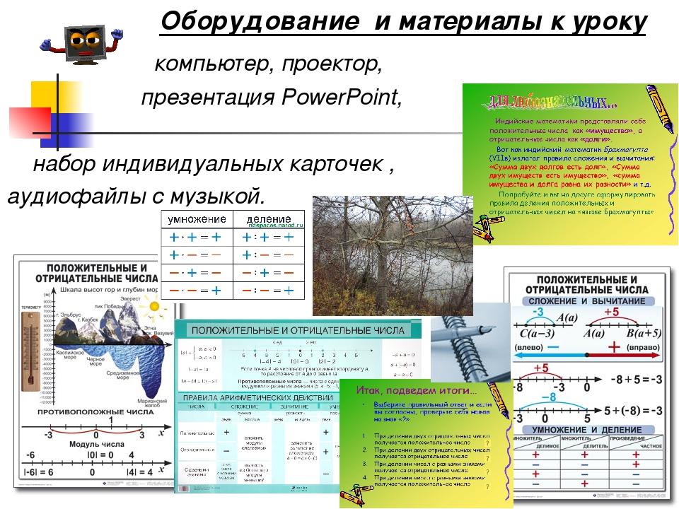 компьютер, проектор, презентация PowerPoint, набор индивидуальных карточек ,...