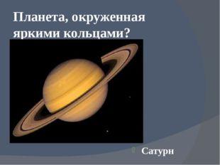 Планета, окруженная яркими кольцами? Сатурн