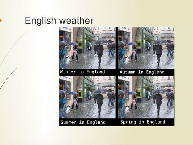 English weather