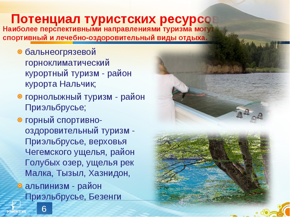 Потенциал туристских ресурсов бальнеогрязевой горноклиматический курортный ту...