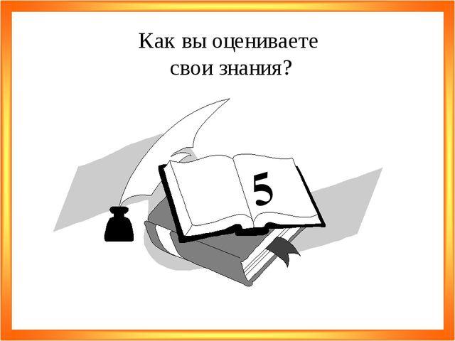 5 Как вы оцениваете свои знания?