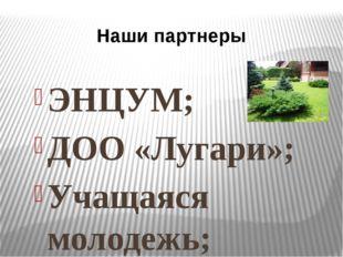 ЭНЦУМ; ДОО «Лугари»; Учащаяся молодежь; Родительская общественность; Выпускни