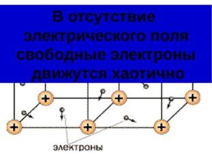 В отсутствие электрического поля свободные электроны движутся хаотично
