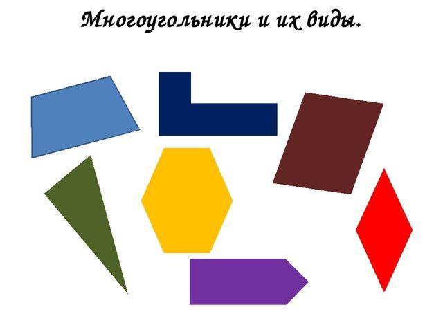 Многоугольники и их виды.