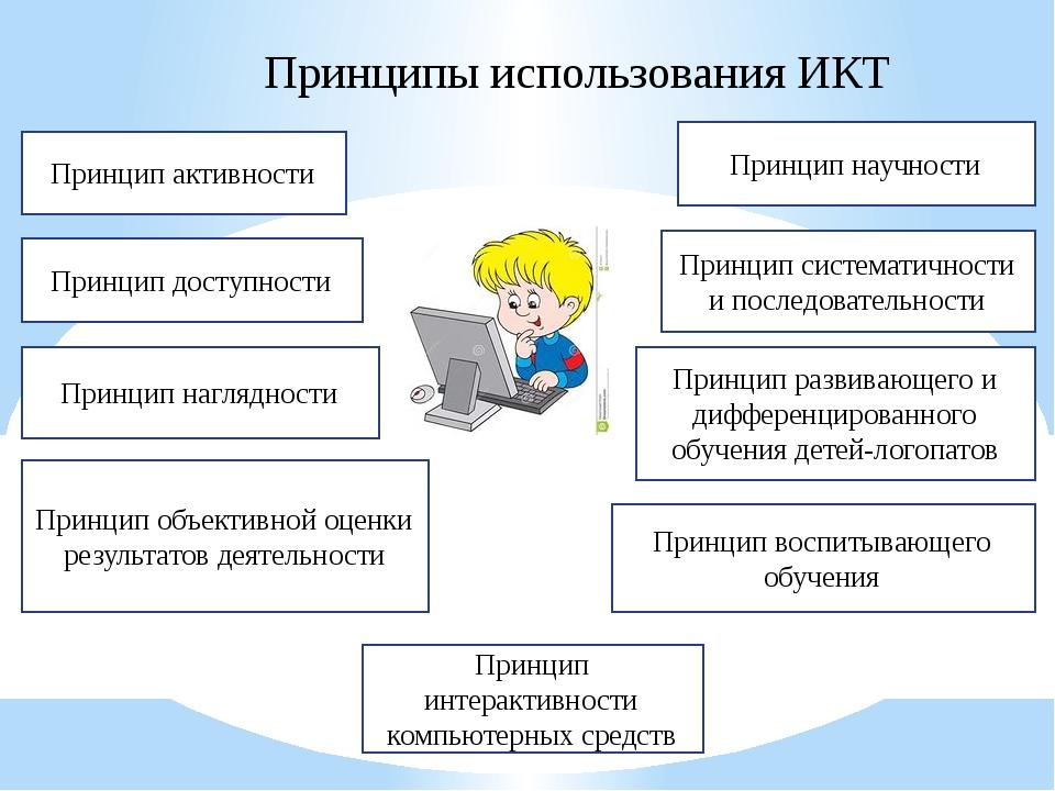 Принципы использования ИКТ Принцип активности Принцип доступности Принцип наг...