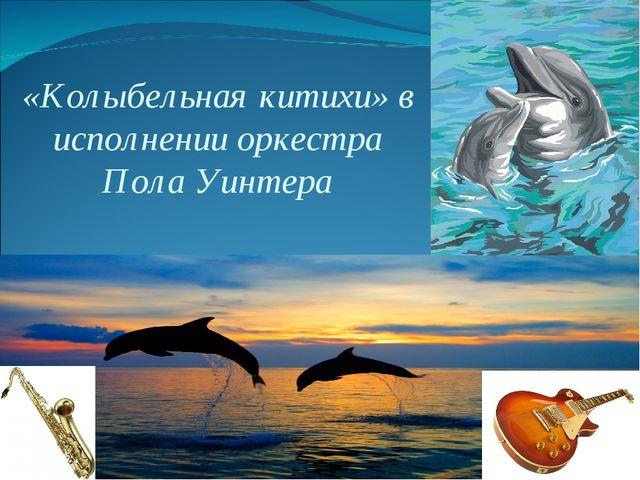 «Колыбельная китихи» в исполнении оркестра Пола Уинтера