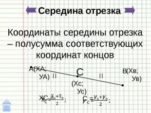 Уравнение прямой в отрезках b a A B