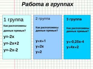 Закрепление Пример №9 1) у = х – 3 2) у = - 0,25х 3) 4) у = 4х – 2,5 5) у = 6