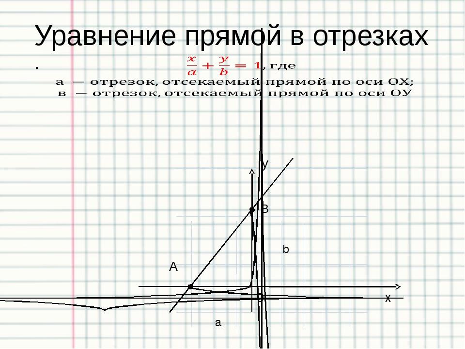 Пример 6: Запишите уравнение найденных прямых в общем виде (Аx+Вy+С=0) а) б)...