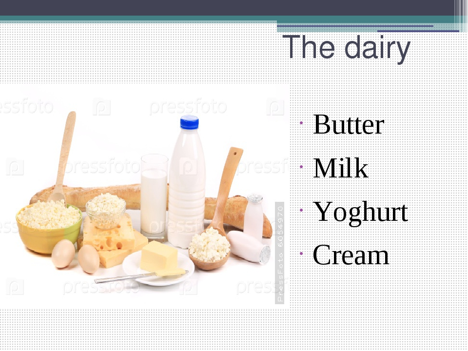 Butter Milk Yoghurt Cream The dairy