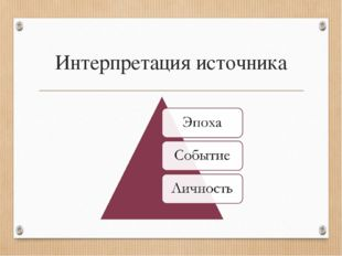 Интерпретация источника