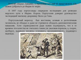 Колумб открыл Америку, а европейцы всё ещё не представляли, как можно добрать