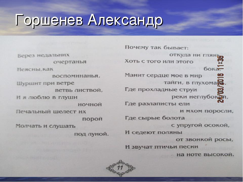 Горшенев Александр