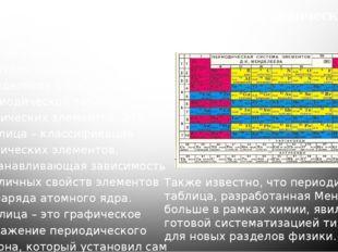 2) Создание периодической таблицы химических элементов Одним изглавных дости