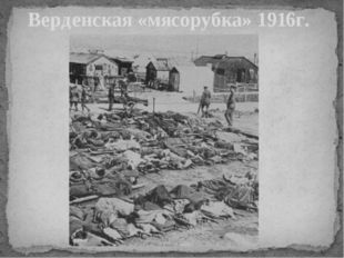 Верденская «мясорубка» 1916г.