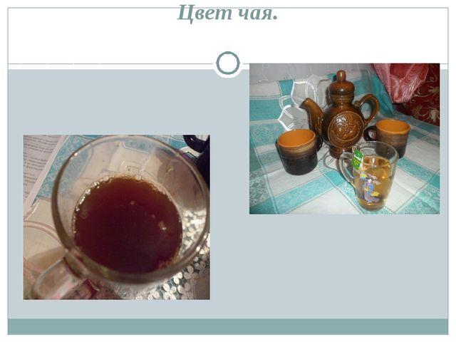 Показатель качества 3. Цвет чая.