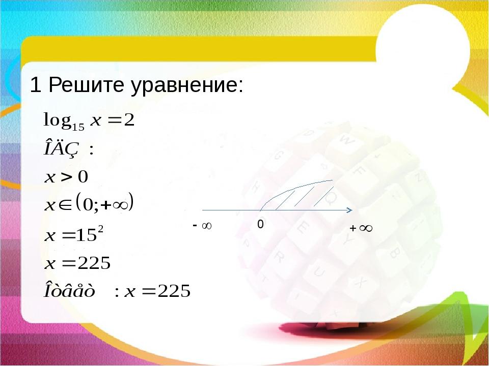1 Решите уравнение: 0 +