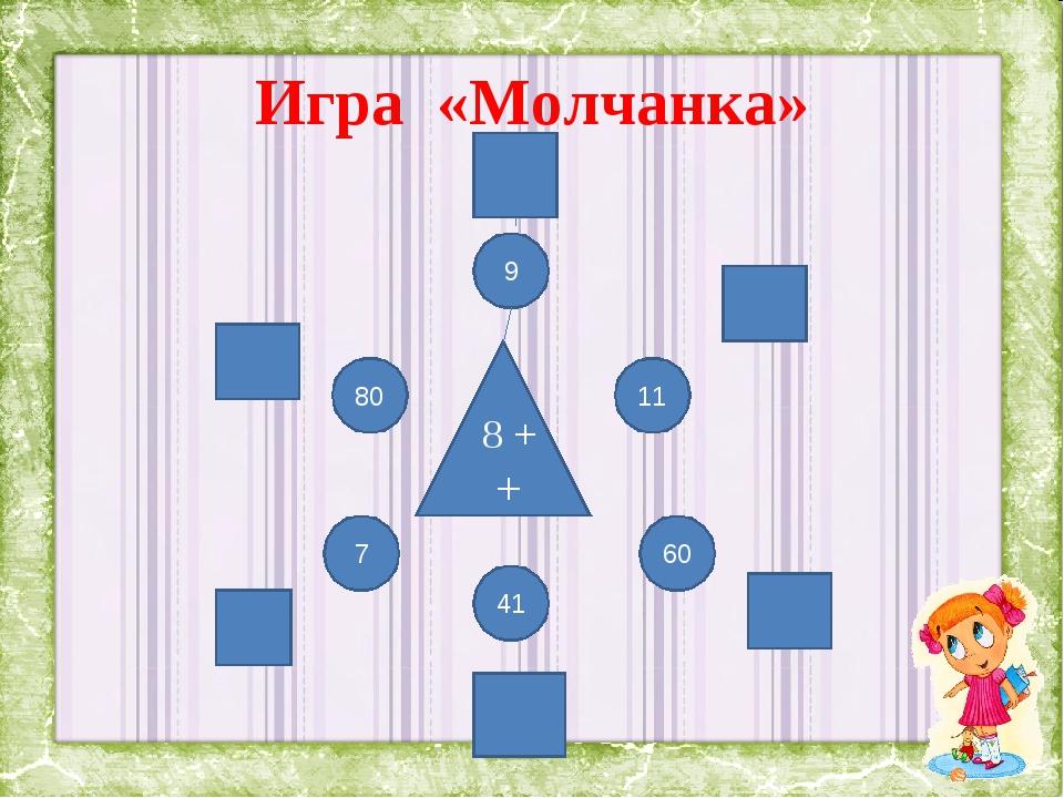 Игра «Молчанка» 8 + + 7 60 41 9 11 80