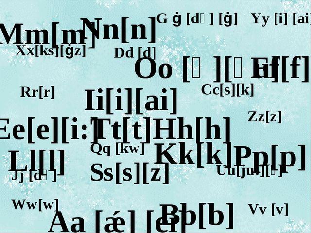 Mm[m] Nn[n] Tt[t] Oo [ɒ][əu] Kk[k] Pp[p] Hh[h] Ii[i][ai] Ll[l] Bb[b] Ff[f] Ee...