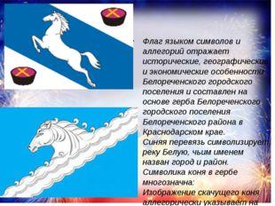 Флаг языком символов и аллегорий отражает исторические, географические и экон