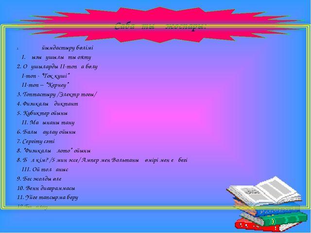 Ұйымдастыру бөлімі І. Қызығушылықты ояту 2. Оқушыларды ІІ-топқа бөлу І-топ -...