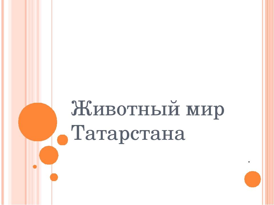 Животный мир Татарстана .