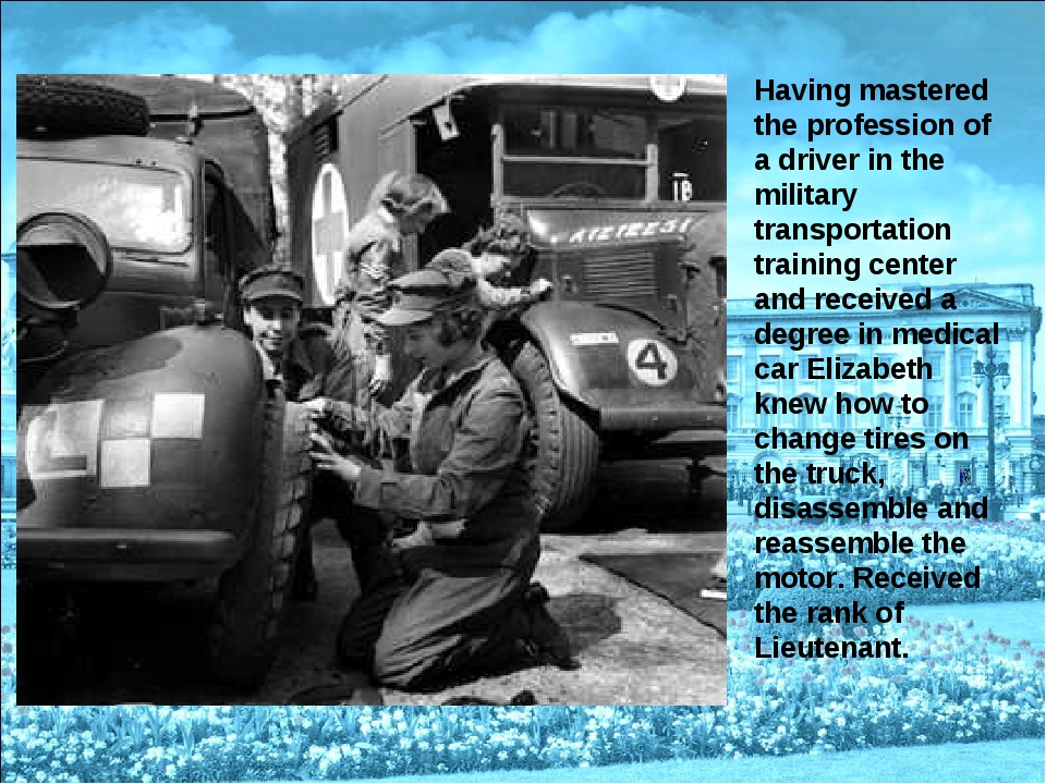 Having mastered the profession of a driver in the military transportation tra...