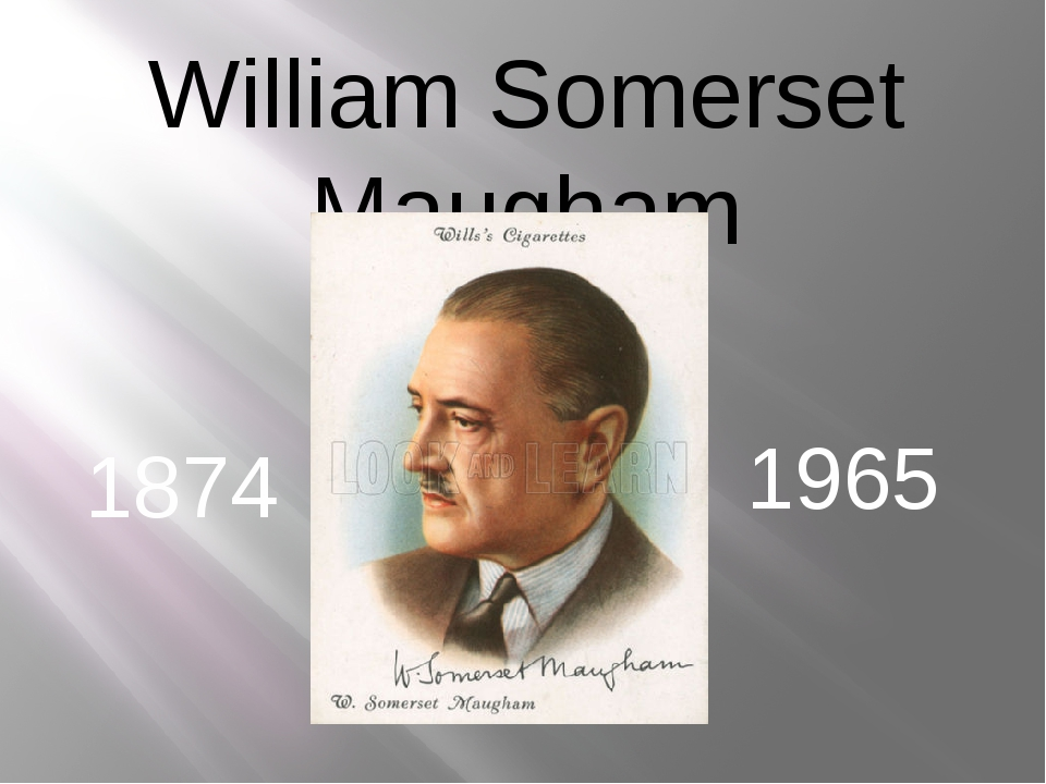 William Somerset Maugham 1874 1965