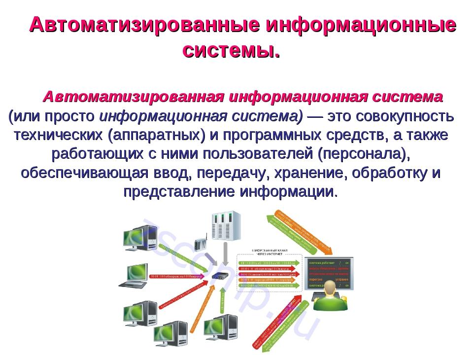 Автоматизированные информационные системы. Автоматизированная информационная...