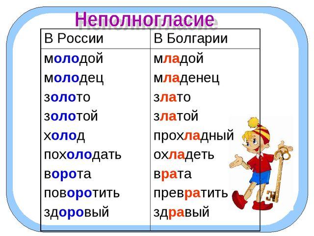 В РоссииВ Болгарии молодой молодец золото золотой холод похолодать ворота п...