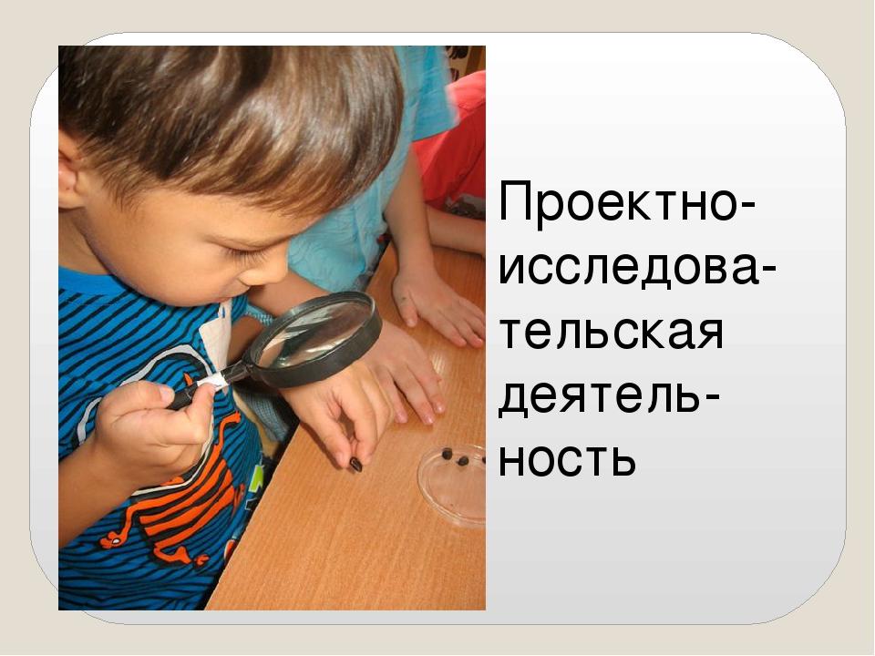 Проектно-исследова-тельская деятель-ность