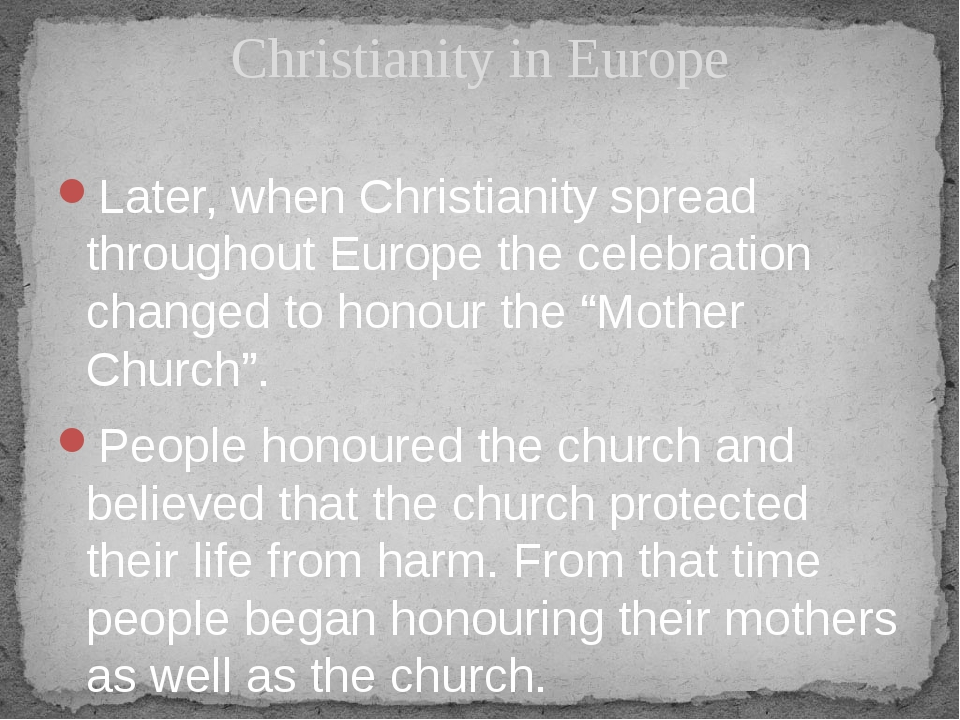 Later, when Christianity spread throughout Europe the celebration changed to...