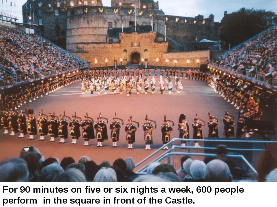 For 90 minutes on five or six nights a week, 600 people perform in the square...