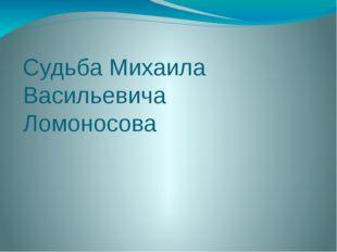 Судьба Михаила Васильевича Ломоносова