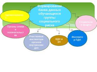 Формирование банка данных обучающихся группы социального риска Инспектор ПДН