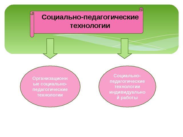 Социально-педагогические технологии организационные социально-педагогические...